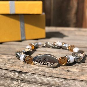 Brighton Dream Believe Achieve Bracelet with Box
